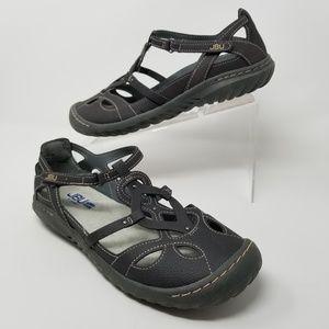 JBU by Jambu Ladies Sydney Flat Sandals Gray